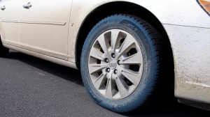 The weird thing about driving through the floodwaters in DV is that it turned my tire sidewalls blue. Other than some chemical reaction, I have no clue as to why that happened.