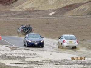 Death Valley has seen its fair share of storms this year and some areas/roads were closed because of it).