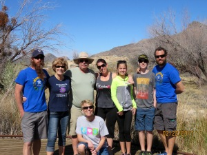 The family at Ash Meadows.